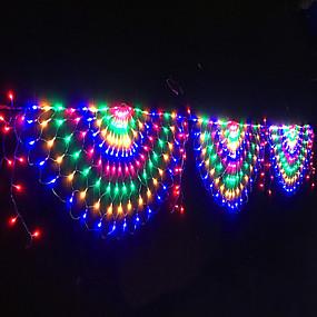 povoljno Svjetlosne trake i žice-3.5m Žice sa svjetlima 412 LED diode 1set Više boja Valentinovo Božić Vodootporno Party Ukrasno 110-240 V