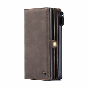 cheap Samsung Case-CaseMe New Multifunctional Business Luxury Leather Magnetic Flip Case For Samsung Galaxy S20 / S20 Plus / S20 Ultra / Note 10 / Note 10 Plus With Wallet Card Slot Stand 2-in-1 Detachable Wallet Cover