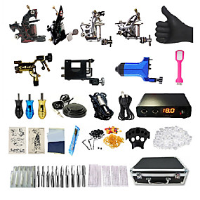 cheap Professional Tattoo Kits-BaseKey Professional Tattoo Kit Tattoo Machine - 7 pcs Tattoo Machines, Professional / New Aluminum Alloy 18 W Rotary Tattoo Machine / Coil Tattoo Machine / Case Included