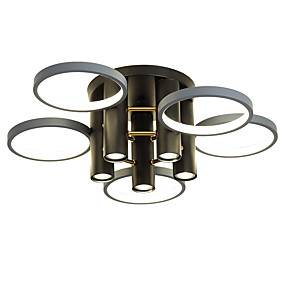 cheap Ceiling Lights & Fans-65 cm Dimmable  Cluster Design Circle Design Flush Mount Lights Metal Basic Painted Finishes Nature Inspired  Nordic Style 220-240V
