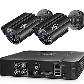 رخيصةأون وصل حديثاً-hiseeu hd 4ch 1080n 5in1 ahd dvr عدة cctv نظام 2 قطع 1080 وعاء ahd للماء ir كاميرا الأمن p2p مجموعة المراقبة