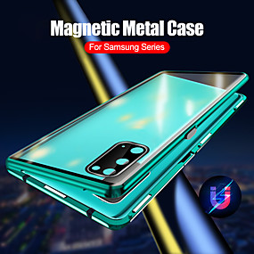 cheap Samsung Case-Magnetic Case for Samsung Galaxy S20 Ultra / S20 Plus / S20 Protection Camera 360 Double Sided Tempered Glass Magnetic Cover Protective Case