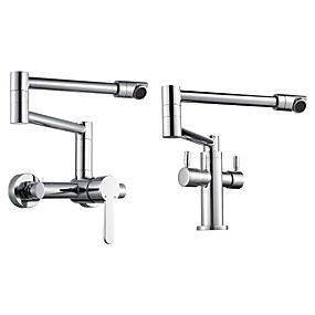 cheap Faucets-Kitchen faucet - Single Handle One Hole Chrome Pot Filler Other Contemporary Kitchen Taps