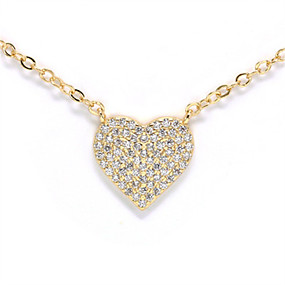 cheap Dating-Women's Pendant Necklace Necklace Heart Dainty Korean Sweet Fashion Copper Gold Plated Gold Silver 20 cm Necklace Jewelry For Engagement Prom Birthday Party Beach Festival