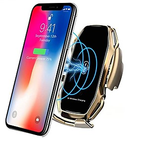 cheap Car Charger-Smart Sensor Car Phone Holder Fast Charging Wireless Chargers Universal Car Holder Compatible iPhone 11/11 Pro/11 Pro Max/Xs MAX/XS/XR/X/8/8+ Samsung S10/S10+/S9/S9+/S8/S8+