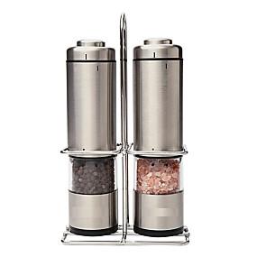 povoljno Kava i čaj-stroj za mljevenje soli papar set od 2 zrna kave električno mljevenje male brusilice za kavu aparat za kavu od nehrđajućeg čelika 6 aaa baterije nisu uključene