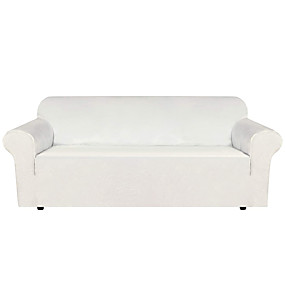cheap Slipcovers-Stretch Velvet Sofa Covers for 3 Cushion Couch Covers Sofa Slipcovers with Non Slip Straps Underneath The Furniture Crafted from Thick Comfy Rich Velour