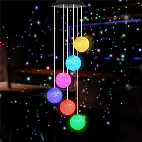 cheap LED Solar Lights-2pcs 1pcs Energy Efficient Solar Outdoor Lights Color Changing LED Butterfly Wind Chimes Balcony Child Room Decor Garden Hanging Light Lamp Decoration Solar Light