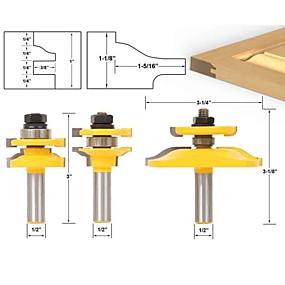 cheap Hand Tools-Shaker 3 Bit Cabinet Door Router Bit Set - 1/2 Shank