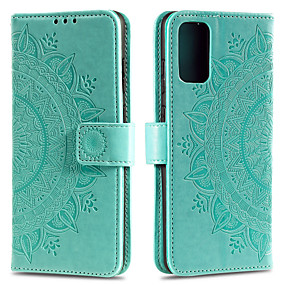 cheap Samsung Case-Case For Samsung Galaxy M21 M30S A51 5G A71 5G M31 A51 A71 S20plus S20 S20ultra A91 S10LITE A81 NOTE10LITE A01 A41 A11 A70E A21 A21S A31 Card Holder Flip Pattern Full Body Cases Flower PU Leather TPU