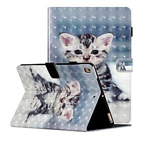 cheap iPad case-Case For Apple iPad Air  iPad (2018)  iPad Air2  iPad (2017)  iPad Pro9.7  iPad 5 6 7 8 Shockproof  Flip  Pattern Full Body Cases Butterfly  Animal  Flower PU Leather  TPU