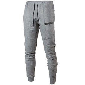 cheap Yoga & Fitness-Men's Sweatpants Joggers Track Pants Athleisure Bottoms Drawstring Cotton Winter Fitness Gym Workout Performance Running Training Breathable Quick Dry Soft Normal Sport Black Dark Gray Light Gray