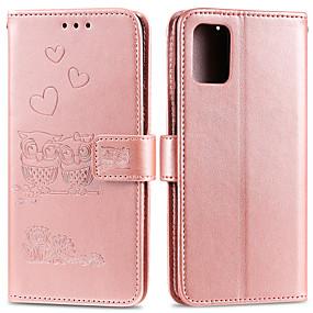 cheap Samsung Case-Case For Samsung Galaxy J4 2018 J6 2018 J4 2018 J6 2018 M10 M20 M30 NOTE8 NOTE9 NOTE10 NOTE10PRO A51 A71 Card Holder Flip Pattern Full Body Cases owl animal heart PU Leather TPU