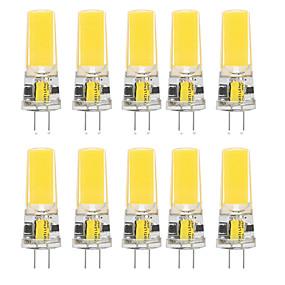 halpa Lamput-10kpl 10 w led silikageeli maissi valot led bi-pin valot g4 2508cob suuritehoinen led luova juhla koriste kristalli kattokruunu valonlähde energiansäästölamput lämmin valkoinen valkoinen ac / dc12 v