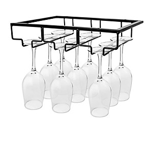 cheap Wine Accessories-Wine Glass Rack Under Cabinet Stemware Wine Glass Holder Glasses Storage Hanger 1 Pc