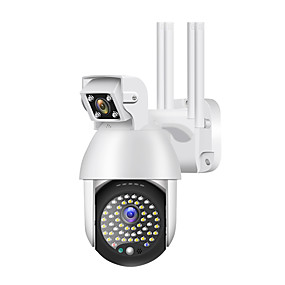 cheap Outdoor IP Network Cameras-50 Light 1080P Outdoor Wifi PTZ IP Camera  2MP IP Camera Outdoor Security IP66 Waterproof Night Vision YCC365 APP Max Support TF Card 128G