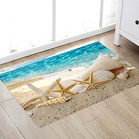 cheap Mats & Rugs-Big Seaside Beach Snail Shanghai Pentacle Star Scallop Modern Bath Mats Nonwoven / Memory Foam Novelty Bathroom