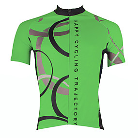 cheap Cycling & Motorcycling-21Grams Men's Short Sleeve Cycling Jersey Summer Polyester White Yellow Red Bike Jersey Top Mountain Bike MTB Road Bike Cycling Ultraviolet Resistant Quick Dry Breathable Sports Clothing Apparel