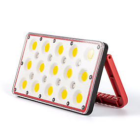 cheap LED Camping Lights-1pc 30 W LED Floodlight Camping Lights Waterproof Multiple use with Lighting Function RGB+White 5 V Outdoor Lighting 15+8 LED Beads
