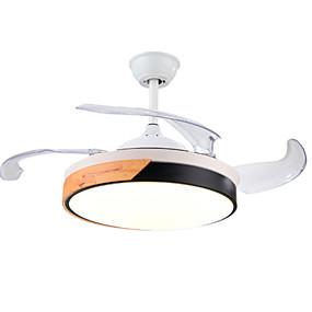 levne Stropní světla a větráky-40 cm stropní větrák stmívatelný dálkové ovládání moderní neviditelný stropní kovový ventilátor galvanicky pokovený do obývacího pokoje ložnice