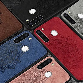 cheap Samsung Case-Case For Samsung Galaxy Galaxy A91 / M80S / Galaxy A21 / Galaxy A01 Embossed Back Cover Solid Colored TPU / PC