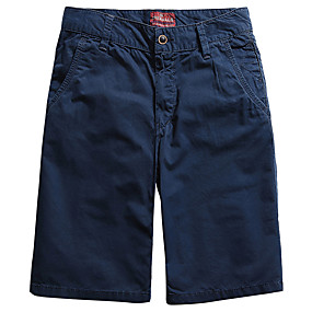 """cheap Camping, Hiking & Backpacking-Men's Hiking Shorts Hiking Cargo Shorts Military Solid Color Summer Outdoor 10"""" Loose Ripstop Multi-Pockets Breathable Sweat wicking Cotton Knee Length Shorts Bottoms Dark Grey Burgundy Black Light"""