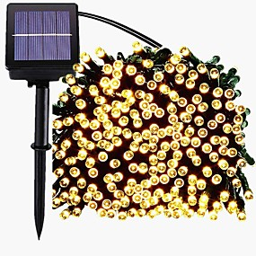 cheap LED String Lights-22M 200LED Solar LED String Light Outdoor String Lights 8 Function Fairy Lights Outdoor Waterproof Garden Lawn Courtyard Christmas Decoration Light