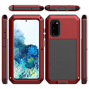 cheap Samsung Case-Shockproof Dustproof Water Resistant Full Body Cases Solid Colored Silicone Glass Metal Case For Samsung Galaxy S20 Plus S20 Ultra