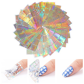 cheap Nail Art & Decoration-24 pcs Foil Sticker Creative nail art Manicure Pedicure Multi Function / Color Gradient Trendy / Fashion Party / Evening / Daily