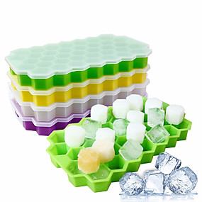 cheap Kitchen-Silicon Ice Cube Tray and Mold with 37 Grids 1 Pc