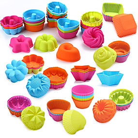 cheap Kitchen-24/36Pcs  Food Grade Silicone Mini Cupcake Liners Cake Tools Silicone Cake Mold Cupcake Muffin Cups