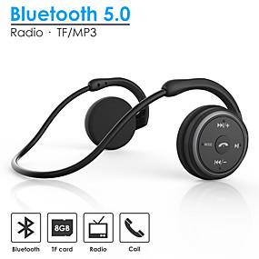 cheap Sports Headphones-AX-698 Neckband Bluetooth 5.0 Headset Sport Wireless Headphones Music Stereo Earphones with Mic Handsfree Calling Support TF