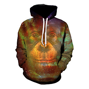 cheap Athleisure Wear-Men's Hoodie Graphic Hooded Daily Basic Hoodies Sweatshirts  Brown