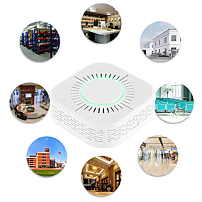 cheap Security Sensors-Wireless Smoke Fire Alarm Sensor Home Automation Safety Protection Alarm Rf433 Smoke Detector And Sonoff Rf Bridge Are Used Together