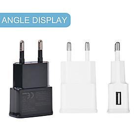 billige Kabler og Lader til mobiltelefon-hurtigladende universal enkelt USB-port telefonlader 7100 reiselader adapter bærbar eu-plugg for mobiltelefoner