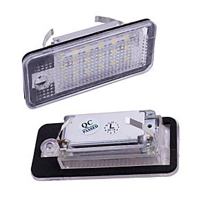 povoljno Svjetlo za registarske tablice-2pcs svjetlo registarske pločice 12v za audi a3 s3 a4 s4 b6 b7 a6 c6 s6 a8 s8 rs4 rs6 q7 canbus beetle ksenonski led broj licenca svjetlo