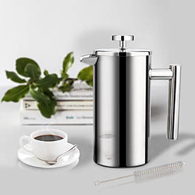 cheap Kitchen-Coffee Maker French Press Stainless Steel Espresso Coffee Pot with Filter 1Pc 350ml