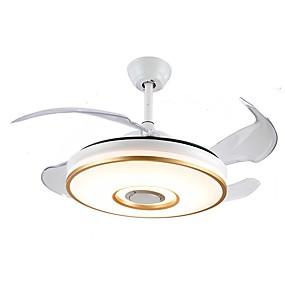levne Stropní světla a větráky-40cm stropní ventilátorová světla s elektrickým ventilátorem a stmívatelné neviditelné ventilátorové světlo pro obývací pokoj v ložnici