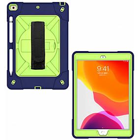 cheap iPad case-Case For Apple iPad Air iPad Mini 4 iPad (2018) Shockproof Back Cover Solid Colored Plastic Silica Gel for iPad 6 iPad Mini 5 iPad 10.2 iPad 2017