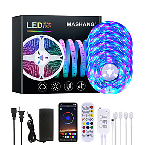 Music Control-20M LED Strip Lights RGB LED Light Strip Music Sync 1200LEDs  LED Strip 2835 SMD Color Changing LED Strip Light Bluetooth Controller and 24 Key Remote LED Lights for Bedroom Home Party
