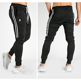 cheap Yoga & Fitness-Men's Sweatpants Joggers Track Pants Athleisure Bottoms Drawstring Cotton Winter Fitness Gym Workout Performance Running Training Breathable Quick Dry Soft Normal Sport Black Red Grey / Micro-elastic