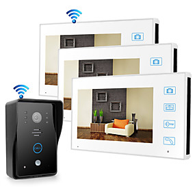 cheap Video Door Phone Systems-Wireless 2.4GHz 7 inch Hands-free 800*480 Pixel with PIR Motion Detect video doorphone