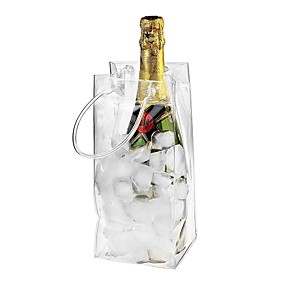 cheap Wine Accessories-PVC Rapid Ice Wine Cooler Bag 1 Pc with Carry Handle