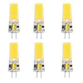 cheap LED Bi-pin Lights-6pcs 10 W LED Silica Gel Corn Lights LED Bi-pin Lights  G4 2508COB High Power LED Creative Party Decorative Crystal Chandelier Light source Energy-saving Light Bulbs Warm White White AC/DC12 V