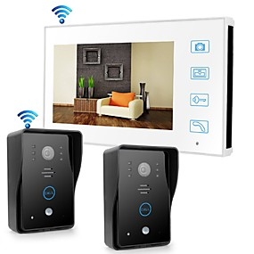 cheap Video Door Phone Systems-Wireless 2.4GHz 7 inch Hands-free 800*480 with PIR Motion Detect video doorphone