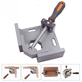 cheap Hand Tools-Aluminium Single Handle 90 Degree Right Angle Clamp Photo Frame Corner Clip