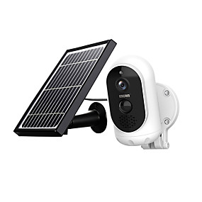 cheap Outdoor IP Network Cameras-ESCAM G12 1080P Full HD Solar Camera 2 mp Wireless 6000mAH  Battery Outdoor Rechargeable Solar Panel PIR Alarm WiFi Camera Two-Way Audio IP65 Day Night Vision Security Camera