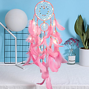 cheap Dreamcatcher-Explosive feather dream catcher handmade wind chime pendant car pendant home decoration