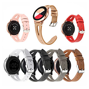 cheap Smartwatch Bands-Genuine leather Strap For Samsung Galaxy Watch 42mm 46mm Bands Genuine Leather Wristband Replacement for Galaxy Watch Active