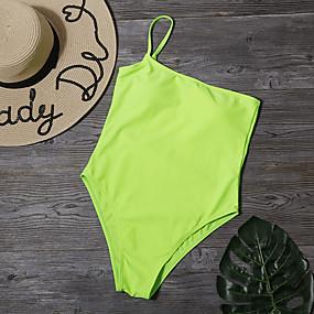 cheap Surfing, Swimming & Diving-Women's One Piece Bikini Swimsuit Black Yellow Swimwear Strapless Bathing Suits